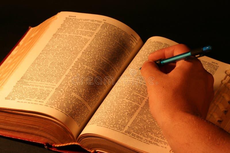 Busca do dicionário imagem de stock