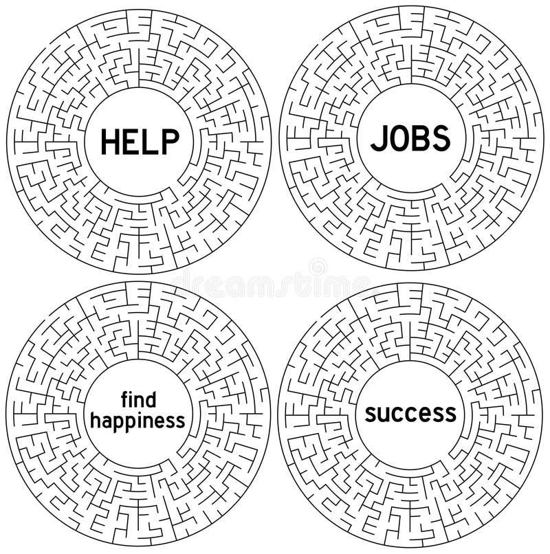 Busca do labirinto ilustração stock