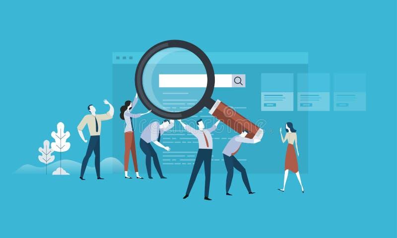 Busca do Web ilustração stock