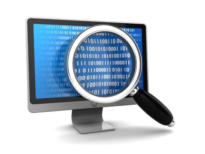 Busca dos dados ilustração stock