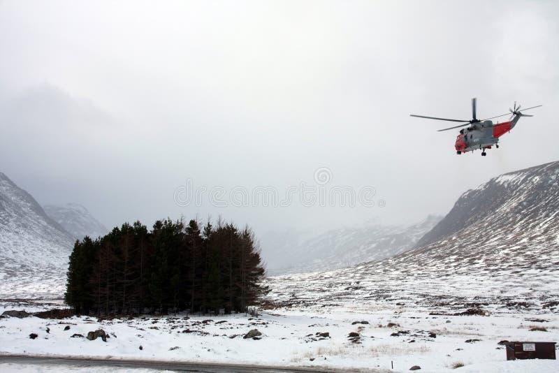 Busca e helicóptero do salvamento imagem de stock