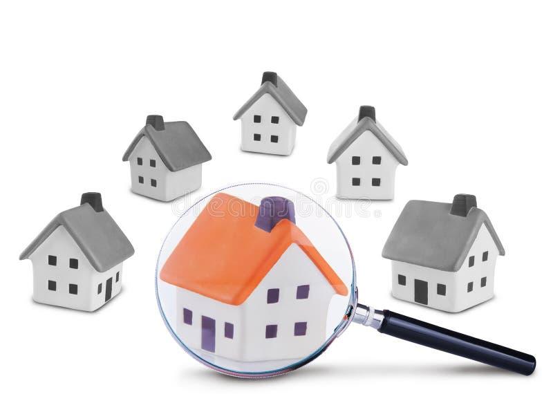 Busca e inspeção da casa imagens de stock