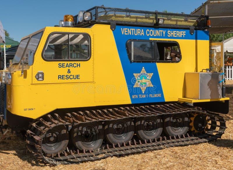 Busca e veículo de socorro da força do xerife, Fillmore, Califórnia imagem de stock