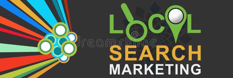 Busca local que introduz no mercado a obscuridade colorida ilustração stock