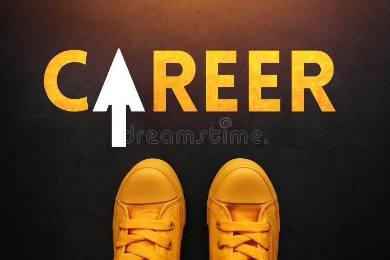 Buscador de la carrera que busca un trabajo imagen de archivo