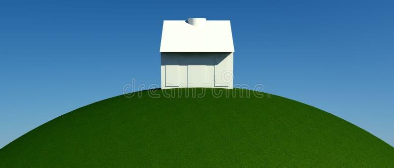 Buscando para la propiedad de las propiedades inmobiliarias, la casa o el nuevo hogar stock de ilustración