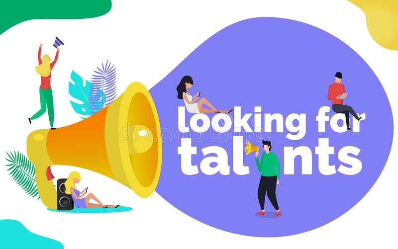 Buscar concepto del ejemplo de los talentos stock de ilustración