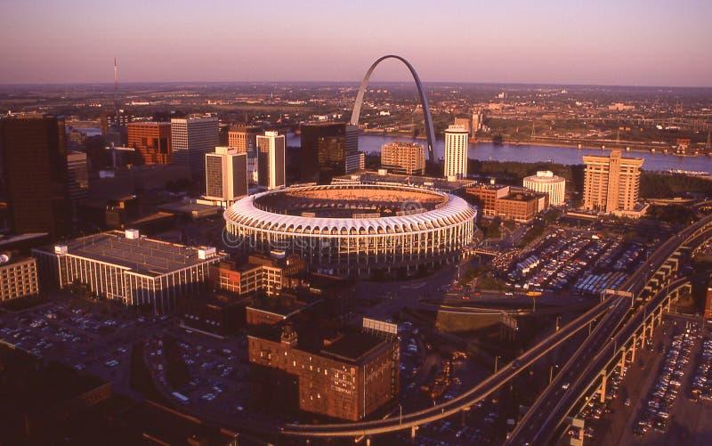 Busch Stadium St Louis, MO royaltyfria foton