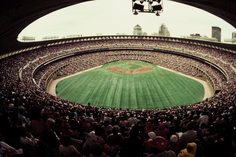 Busch stary Stadium, St ludwik, MO. obraz stock