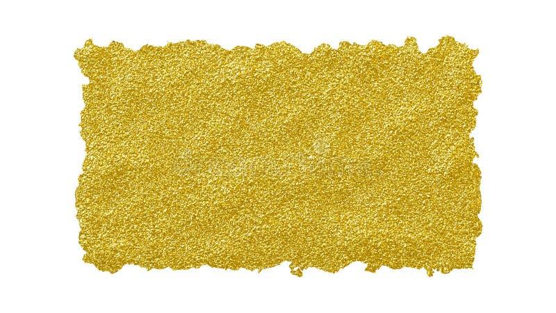 Busen strimlade sönderrivet guld- glansigt papper för kanten för idérika designer royaltyfri illustrationer