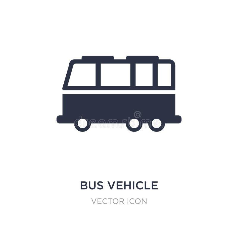 Busfahrzeugikone auf weißem Hintergrund Einfache Elementillustration vom Transportkonzept vektor abbildung