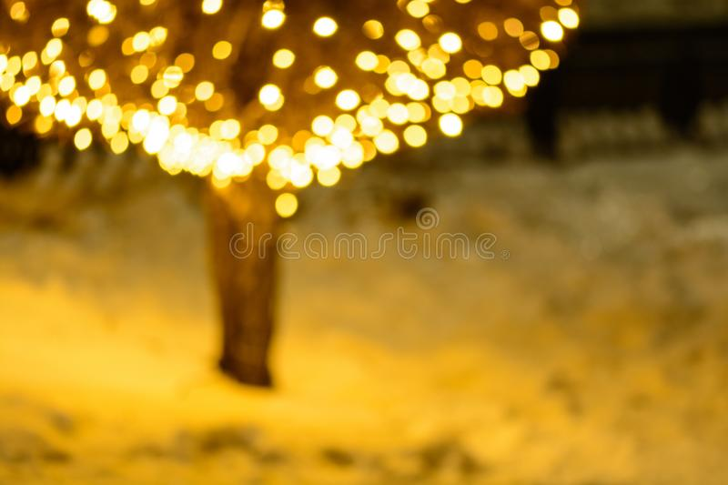 Blurred Christmas illumination stock photos
