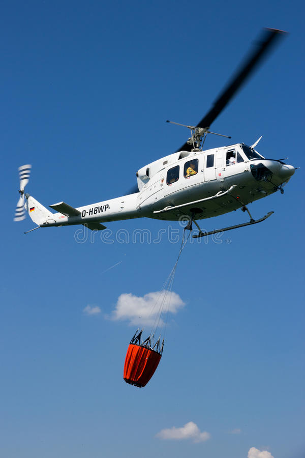 Bush fire fighting helicopter royalty free stock photo
