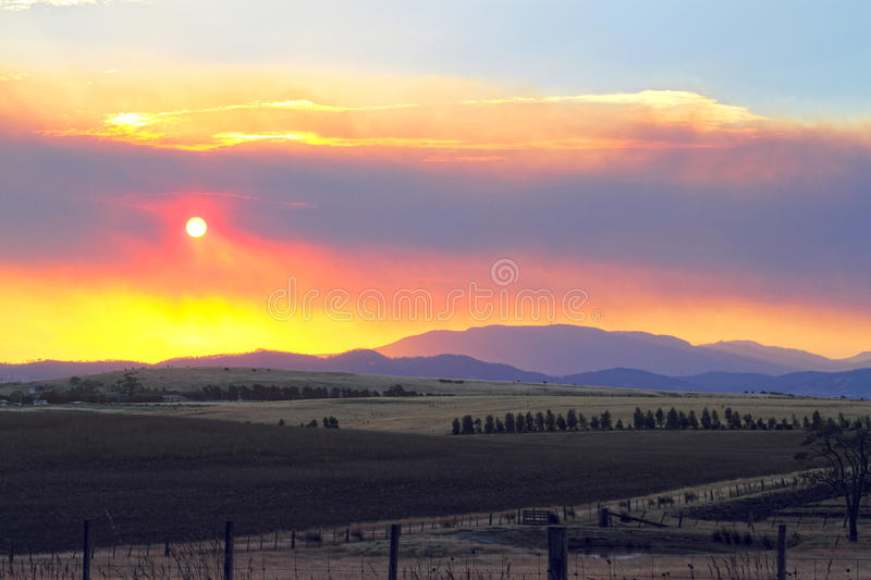 Bush fire Tasmania royalty free stock images
