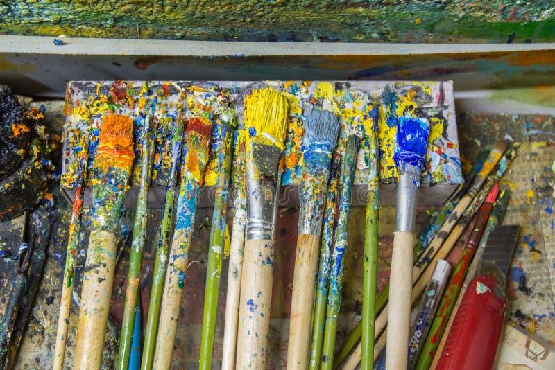 Bush pióra dla artysty obraz olejny obraz stock
