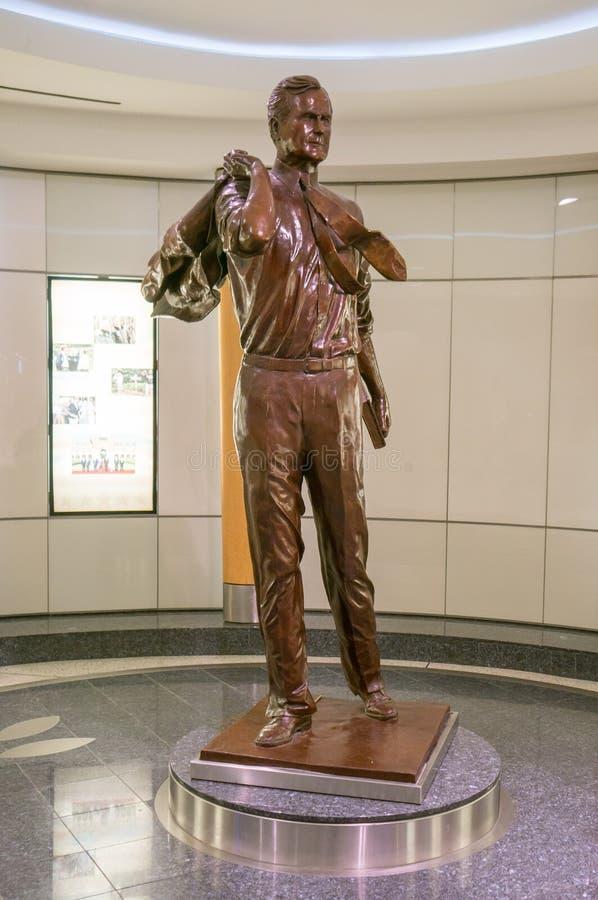 Bush-standbeeld stock afbeeldingen