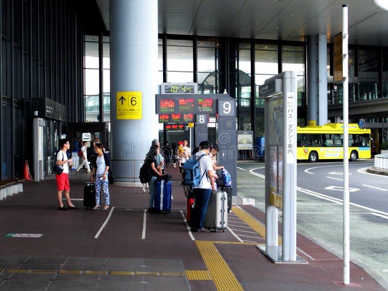 Bushalte bij Narita luchthaven. stock afbeelding