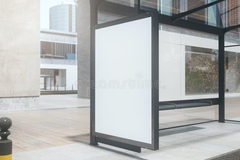 Bushalte met Leeg Aanplakbord vector illustratie