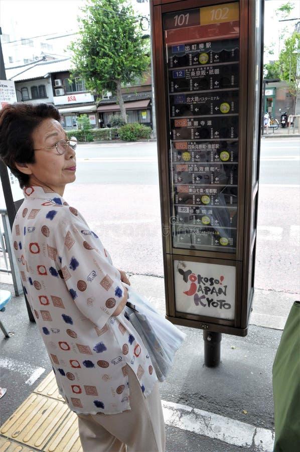 Bushalte in Tokyo stock foto
