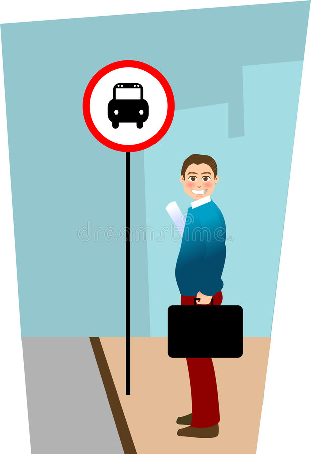 Bushaltestelle vektor abbildung