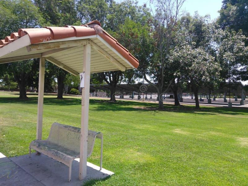 Bushaltestelle in Chula Vista lizenzfreies stockbild