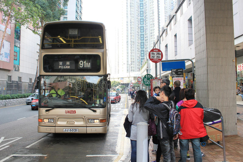 Bushaltestelle in Hong Kong lizenzfreie stockbilder