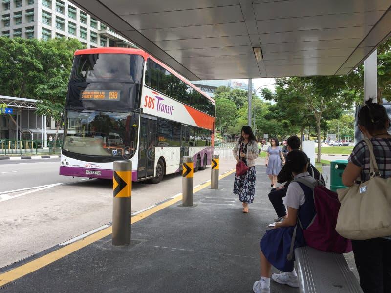 Bushaltestelle in Singapur lizenzfreies stockfoto