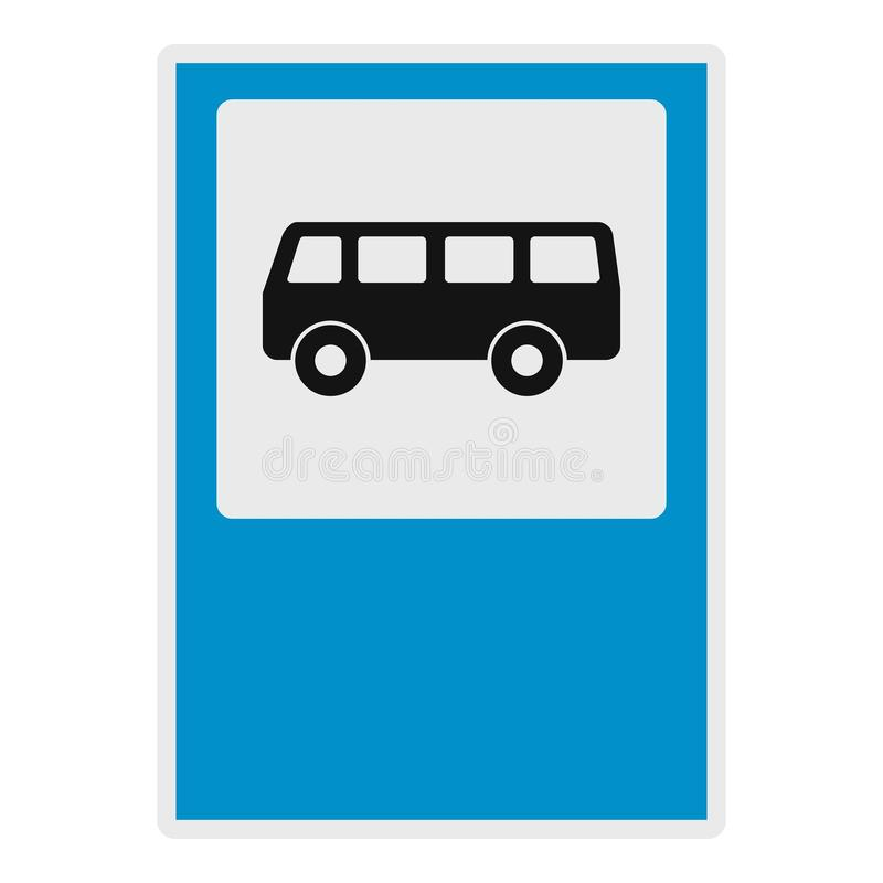 Bushaltestelleikone, flache Art stock abbildung