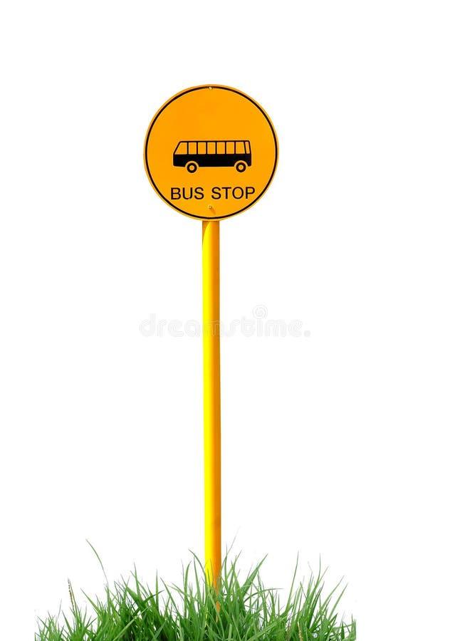 Bushaltestellezeichen stockfotos