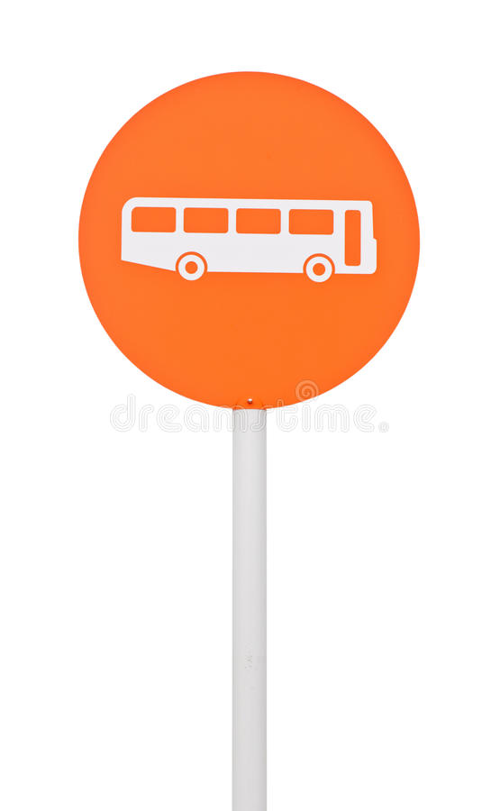 Bushaltestellezeichen stockfotografie