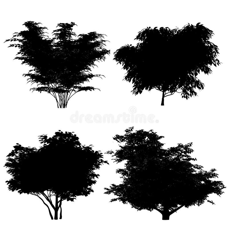 Download Bushe Silhouette Royalty Free Stock Photo - Image: 36409155