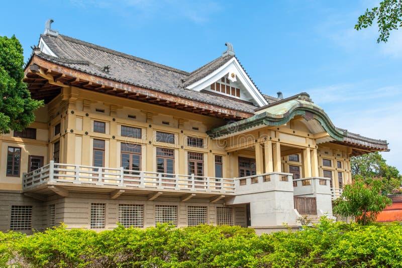 Bushido霍尔在孔子寺庙附近的台南 免版税库存图片