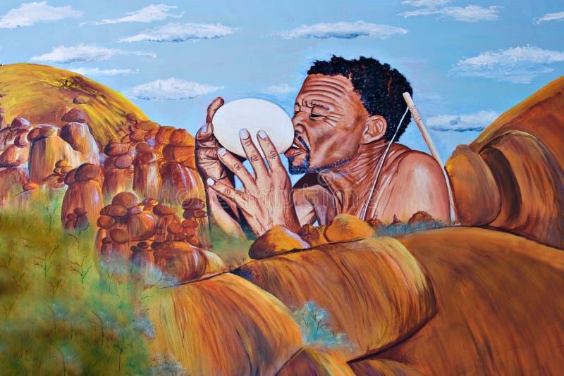 Bushman basarwa royalty free stock image