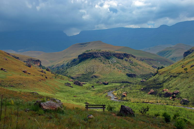 Bushmans Tal in den Drakensberg Bergen, DNA lizenzfreie stockfotografie