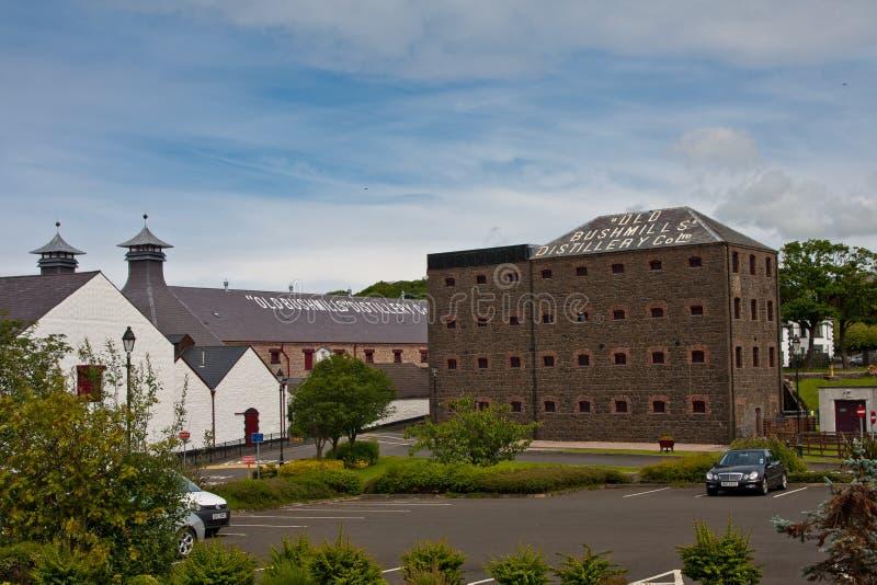 Bushmills Distillery. The Old Bushmills whiskey distillery in Bushmills Northern Ireland is the oldest distilery in Ireland.It is a popular tourist destination royalty free stock photos