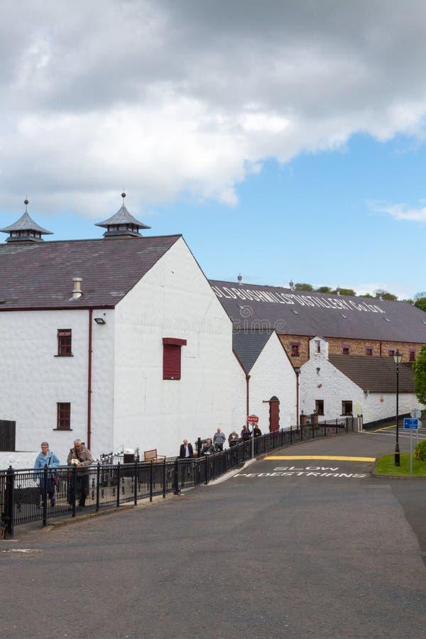 Bushmills Distillery in Bushmills, N. Ireland. Bushmills, N. Ireland/United Kingdom - June 2, 2015: Bushmills Distillery, the oldest working distillery in the stock photos
