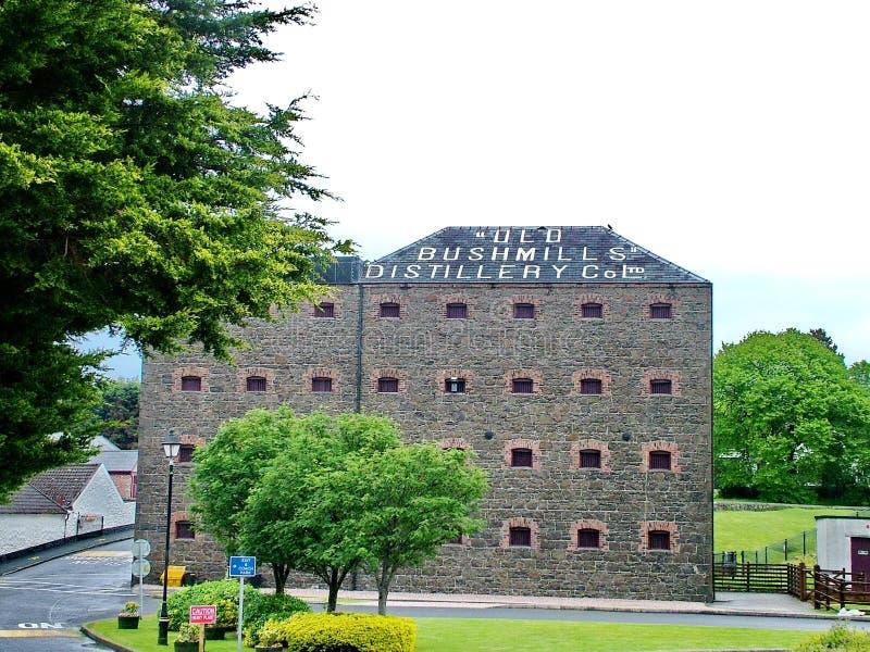 The Old Bushmills Whiskey Distillery. Bushmills, Northern Ireland - June 07, 2012: The Old Bushmills Whiskey Distillery, the oldest working distillery in Ireland stock image