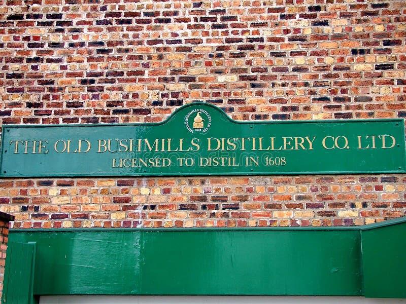 The Old Bushmills Whiskey Distillery. Bushmills, Northern Ireland - June 07, 2012: The Old Bushmills Whiskey Distillery, the oldest working distillery in Ireland royalty free stock photo
