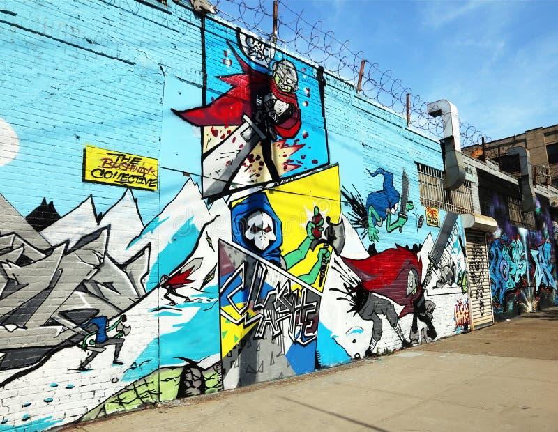 Bushwick集体,街道艺术 库存照片