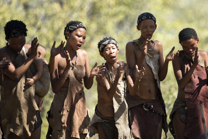 Bushwoman de San imágenes de archivo libres de regalías