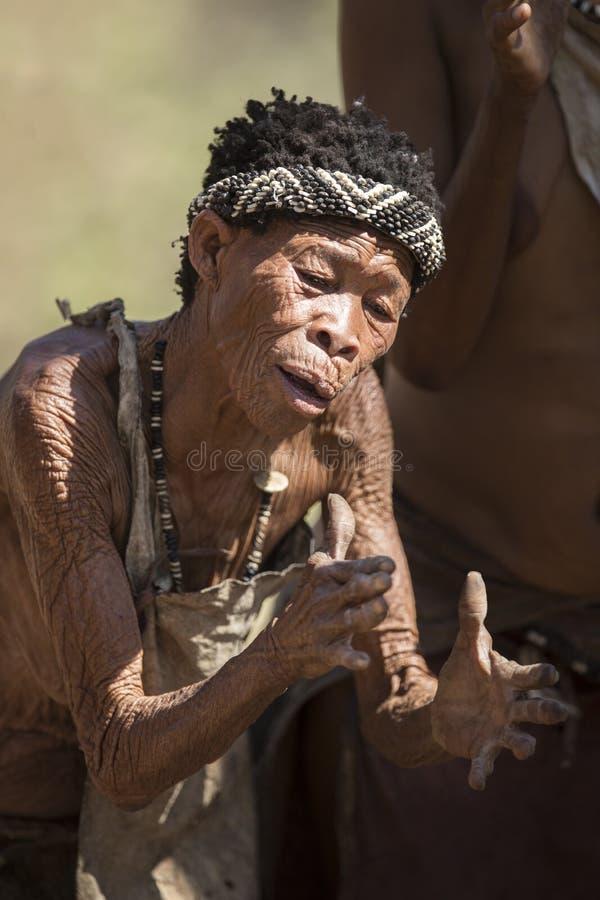 Bushwoman de San fotografía de archivo