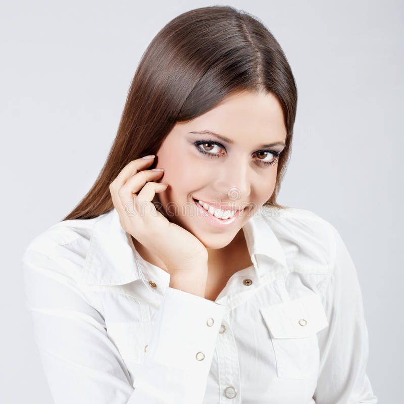 busiesswoman lyckligt arkivfoton