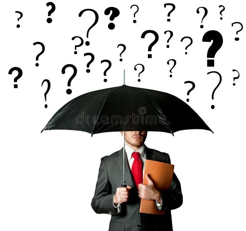 Business question stock image