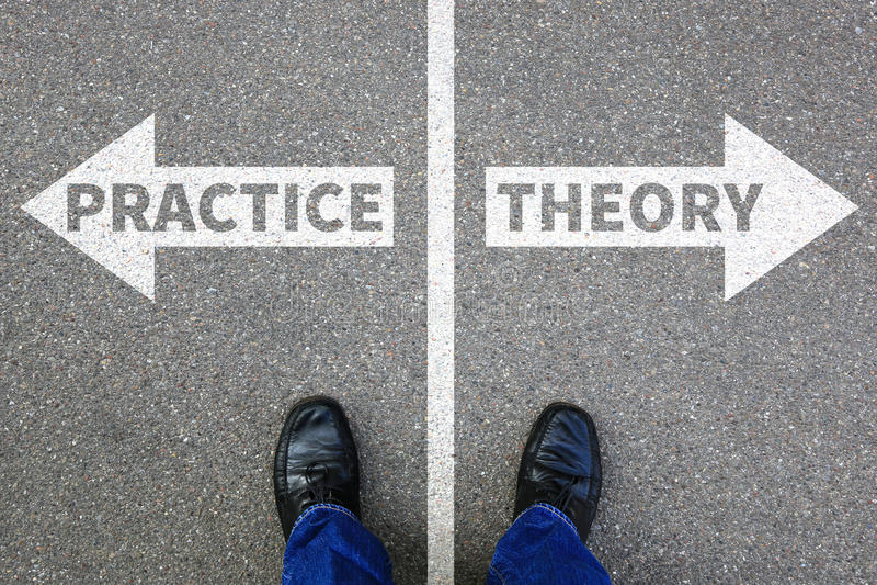 Busine επιτυχίας εκμάθησης επαγγέλματος εκπαίδευσης θεωρίας και πρακτικής στοκ φωτογραφία με δικαίωμα ελεύθερης χρήσης