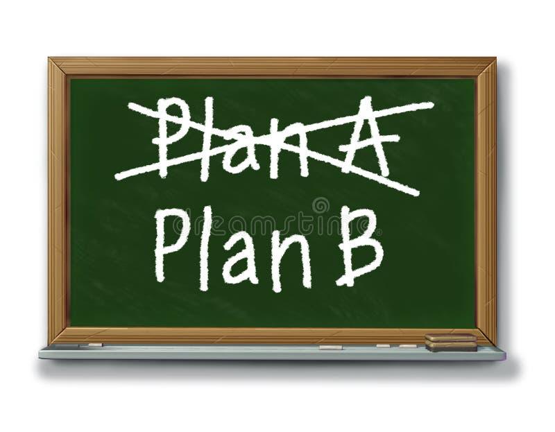 Busine alternatif de planification d'option de stratégie du plan b illustration de vecteur