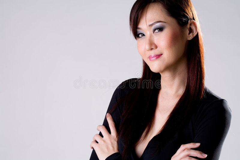Businees woman confidence smile stock image