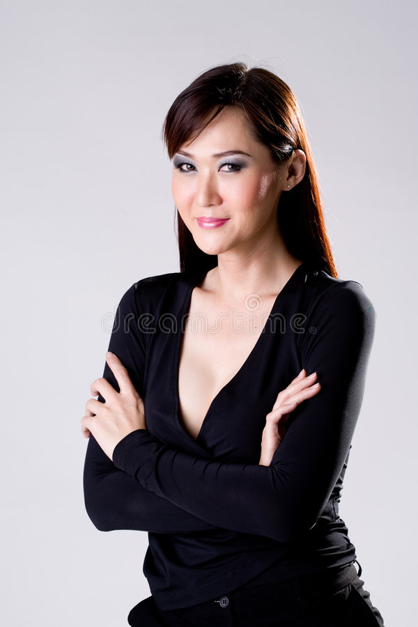 Businees woman with confidence smile royalty free stock image