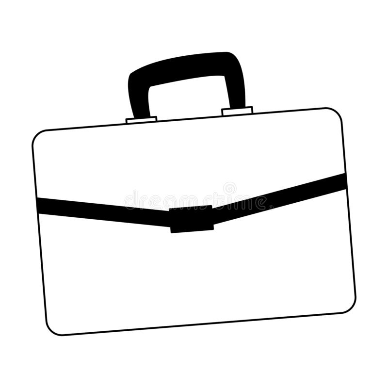 Busines briefcase isolated in black and white. Busines briefcase isolated vector illustration graphic design vector illustration