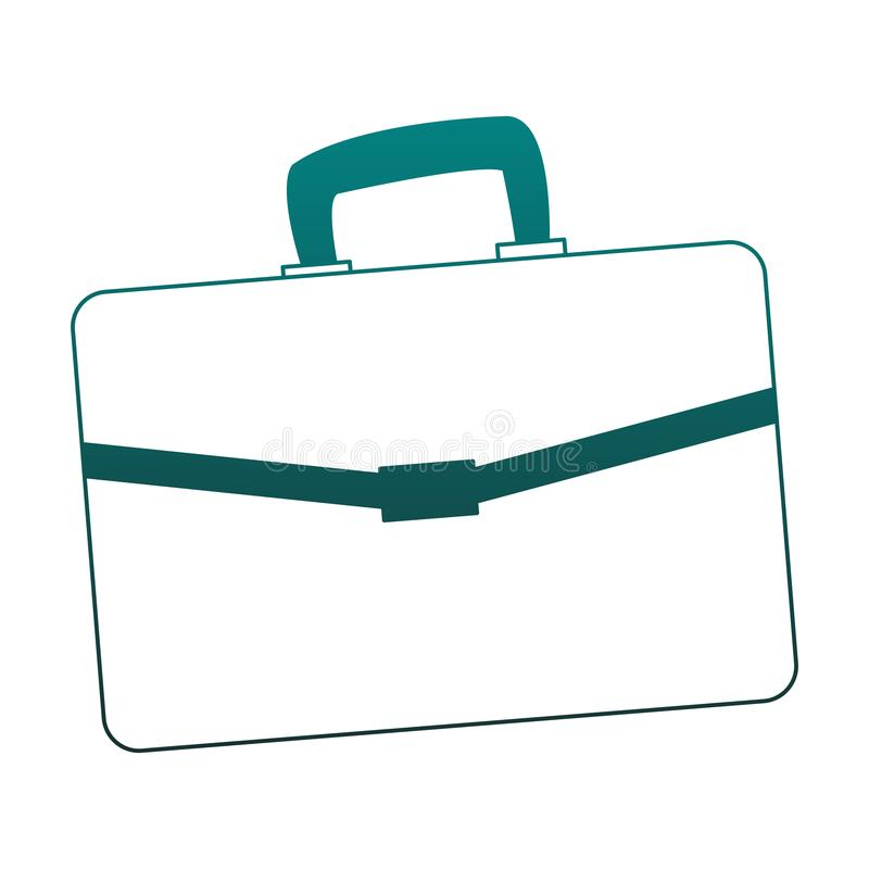 Busines briefcase isolated blue lines. Busines briefcase isolated vector illustration graphic design royalty free illustration