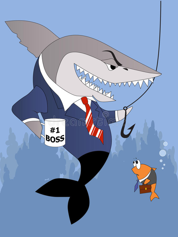 Download Busines Shark Is A Bully Boss Stock Vector - Image: 29690708